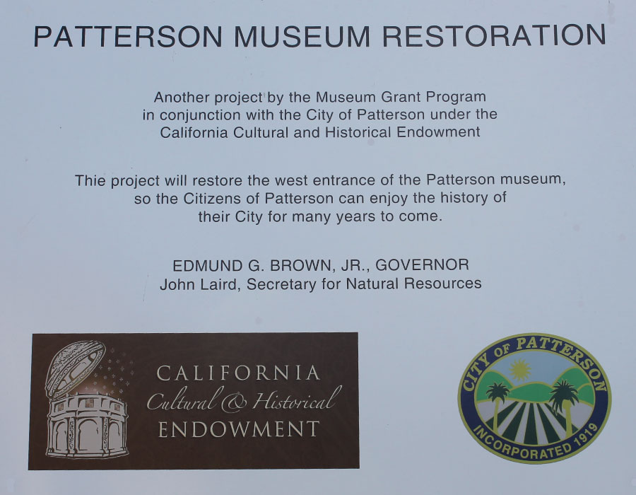 Patterson, Ca Historical Museum Restoration